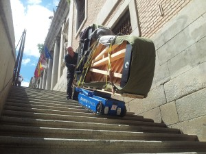 Transporte de Pianos salvando escaleras