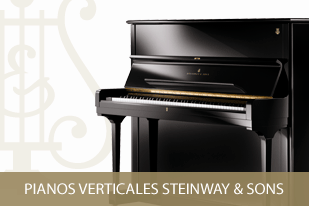 Pianos verticales Steinway & Sons