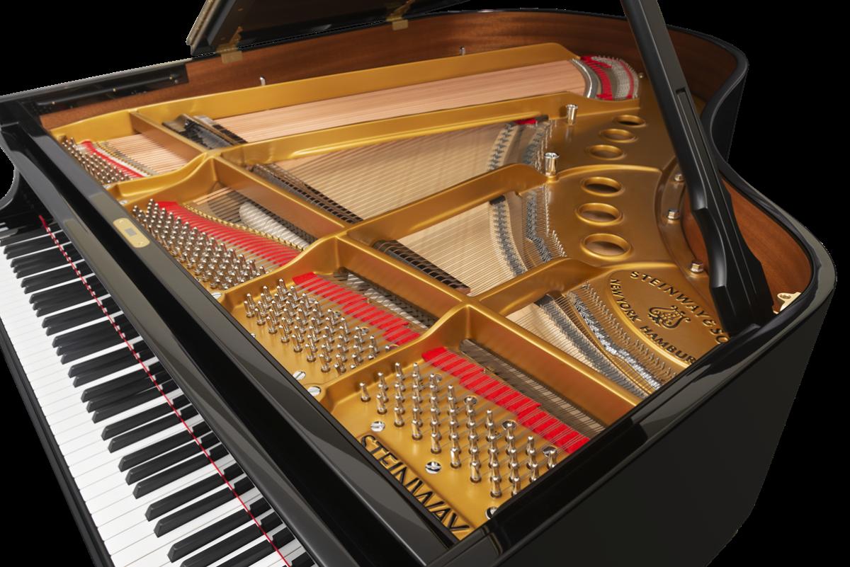 piano de cola Steinway & Sons m170 arpa cuerdas tabla armónica cuerpo acústico
