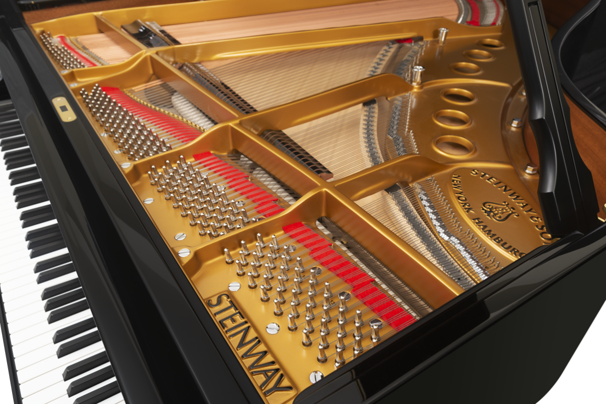 piano de cola Steinway & Sons m170 clavijero puente tabla armócica