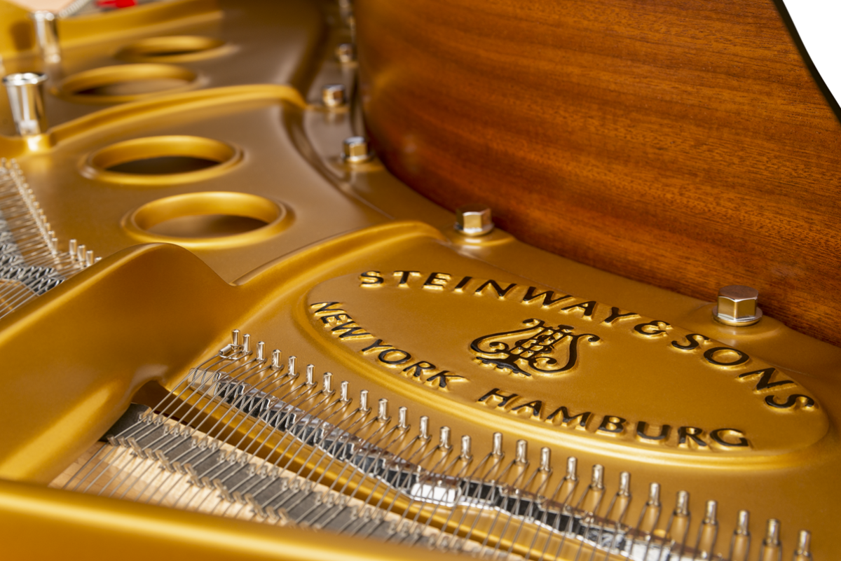 piano de cola Steinway & Sons O180 logo arpa