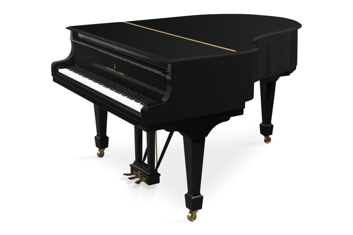 piano de cola Steinway & Sons O180 plano general tapa cerrada