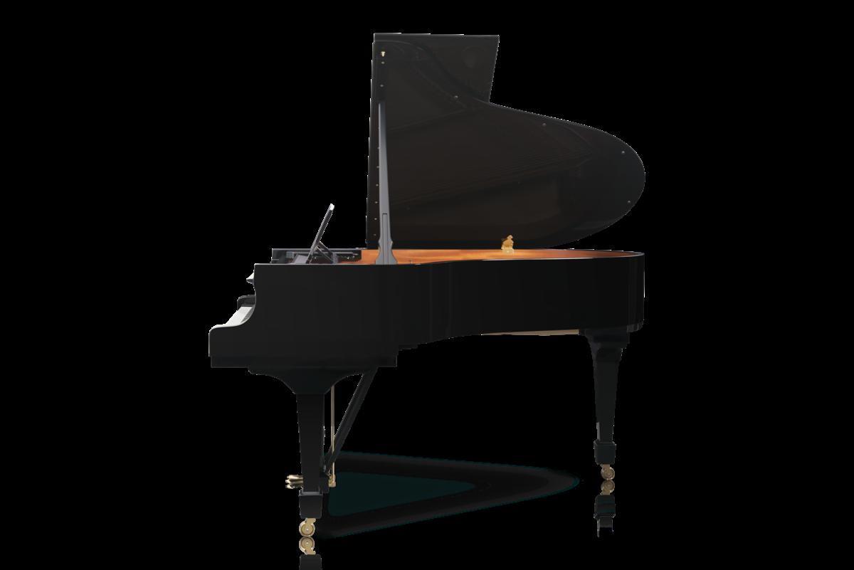 piano de cola Steinway & Sons O180 vista lateral