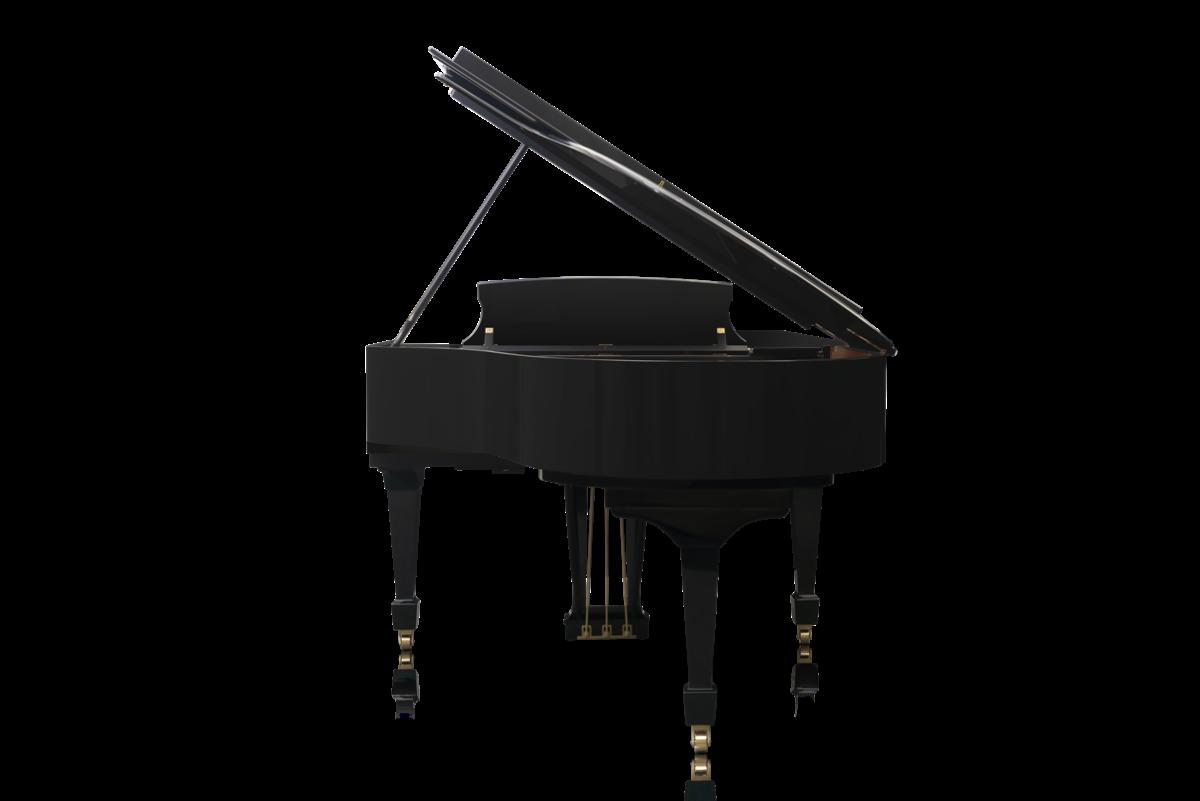 piano de cola Steinway & Sons O180 vista trasera