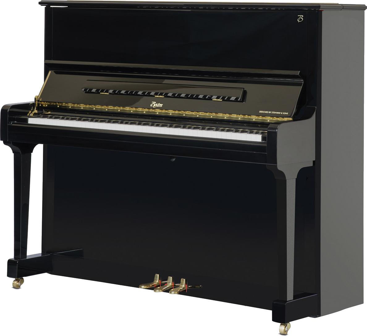 piano-vertical-boston-up126-profesional-nuevo-negro-frontal copia