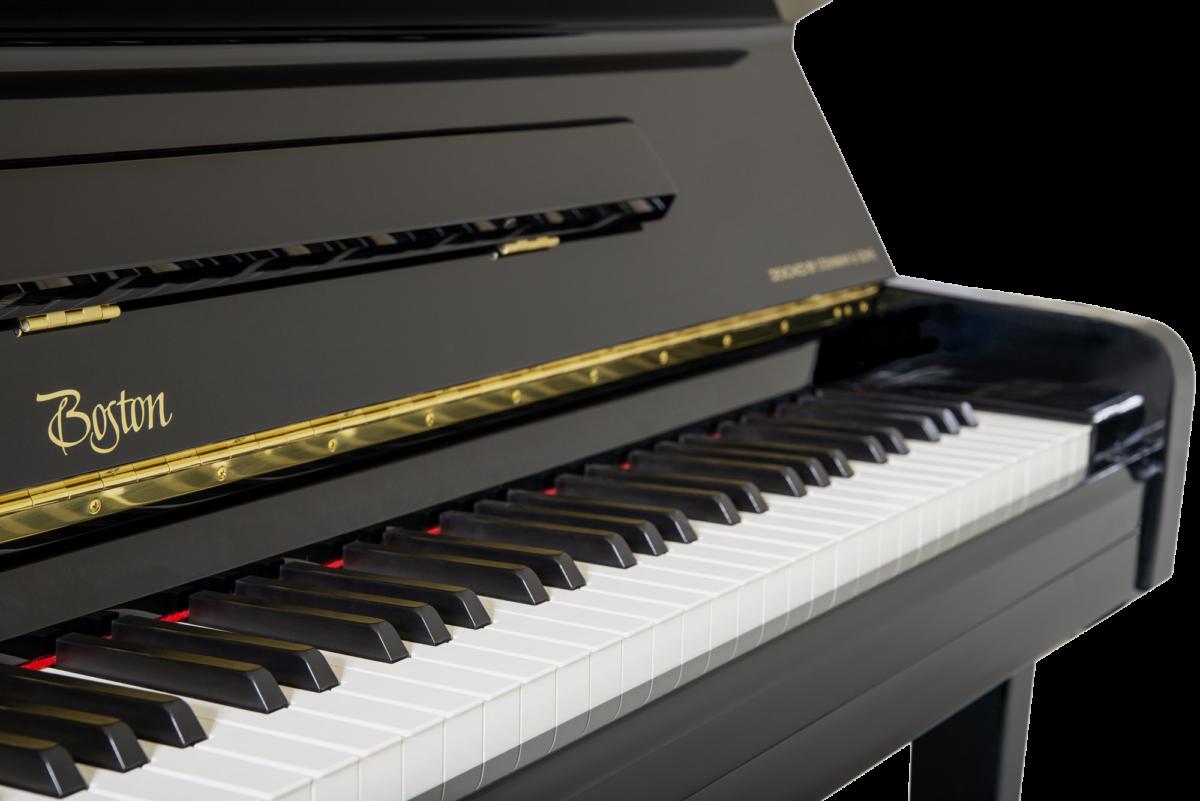 piano-vertical-boston-up126-profesional-nuevo-negro-teclado
