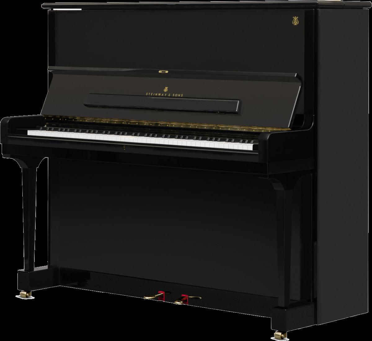 piano-vertical-steinway-sons-k132-artesanal-nuevo-negro-frontal