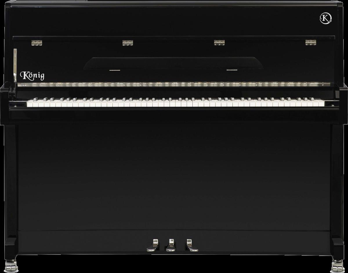 piano-vertical-konig-l109-nuevo-negro-frontal