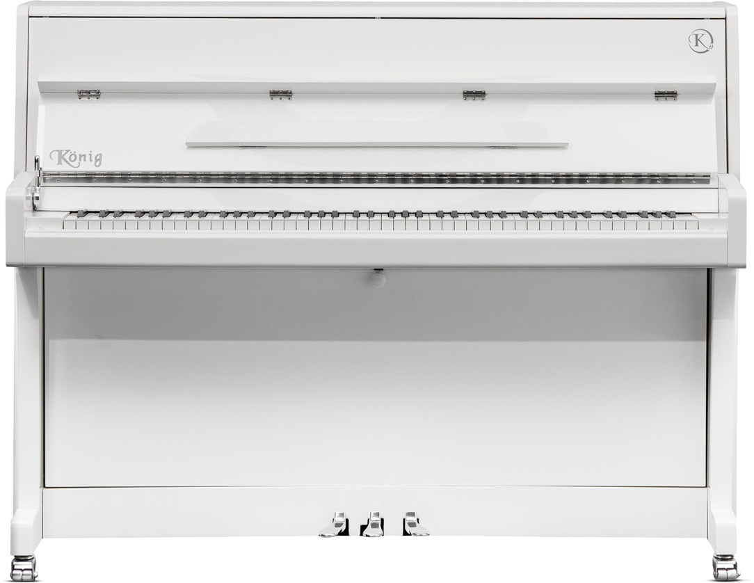 piano-pared-könig-109-nuevo-blanco-frontal