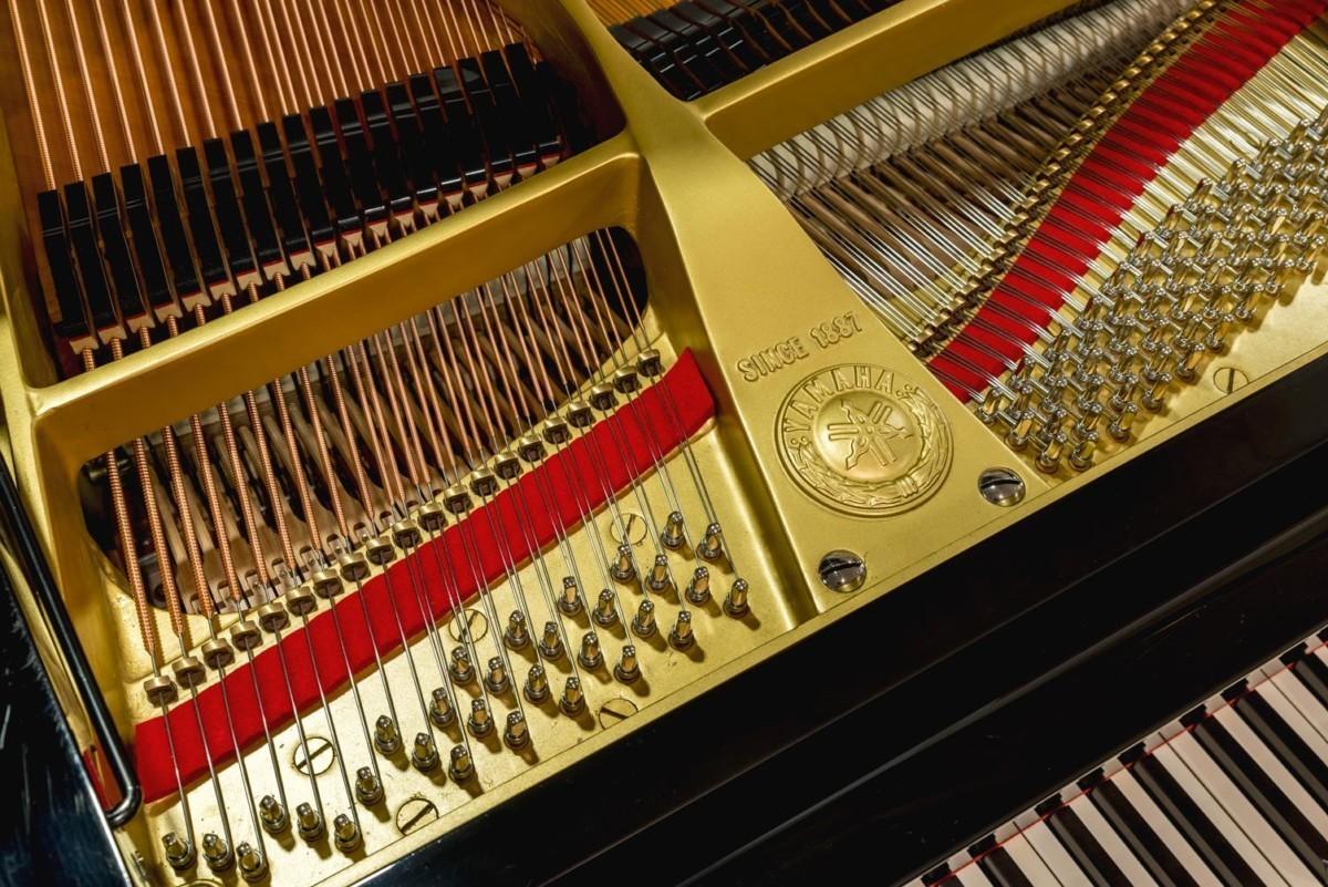 Yamaha C7 #3510313 clavijero fieltro