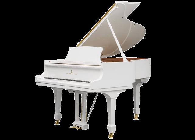 piano-cola-steinway-sons-o180-spirio-artesanal-nuevo-blanco-3D