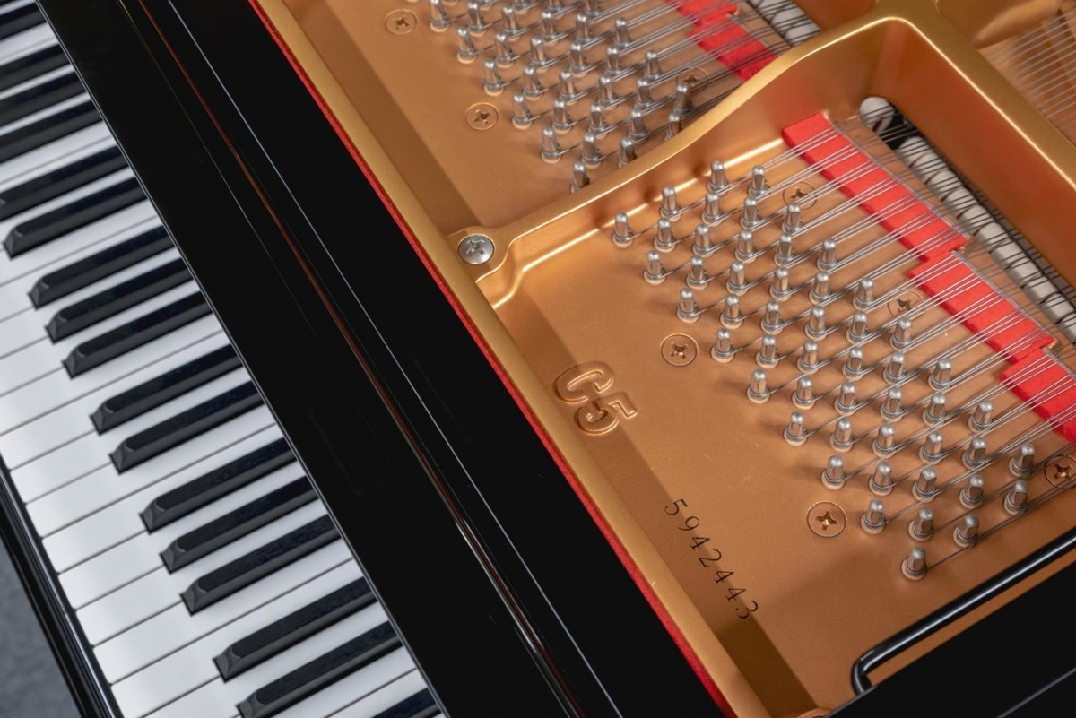 YAMAHA-C5-5942443 detalle piano número de serie clavijero clavijas