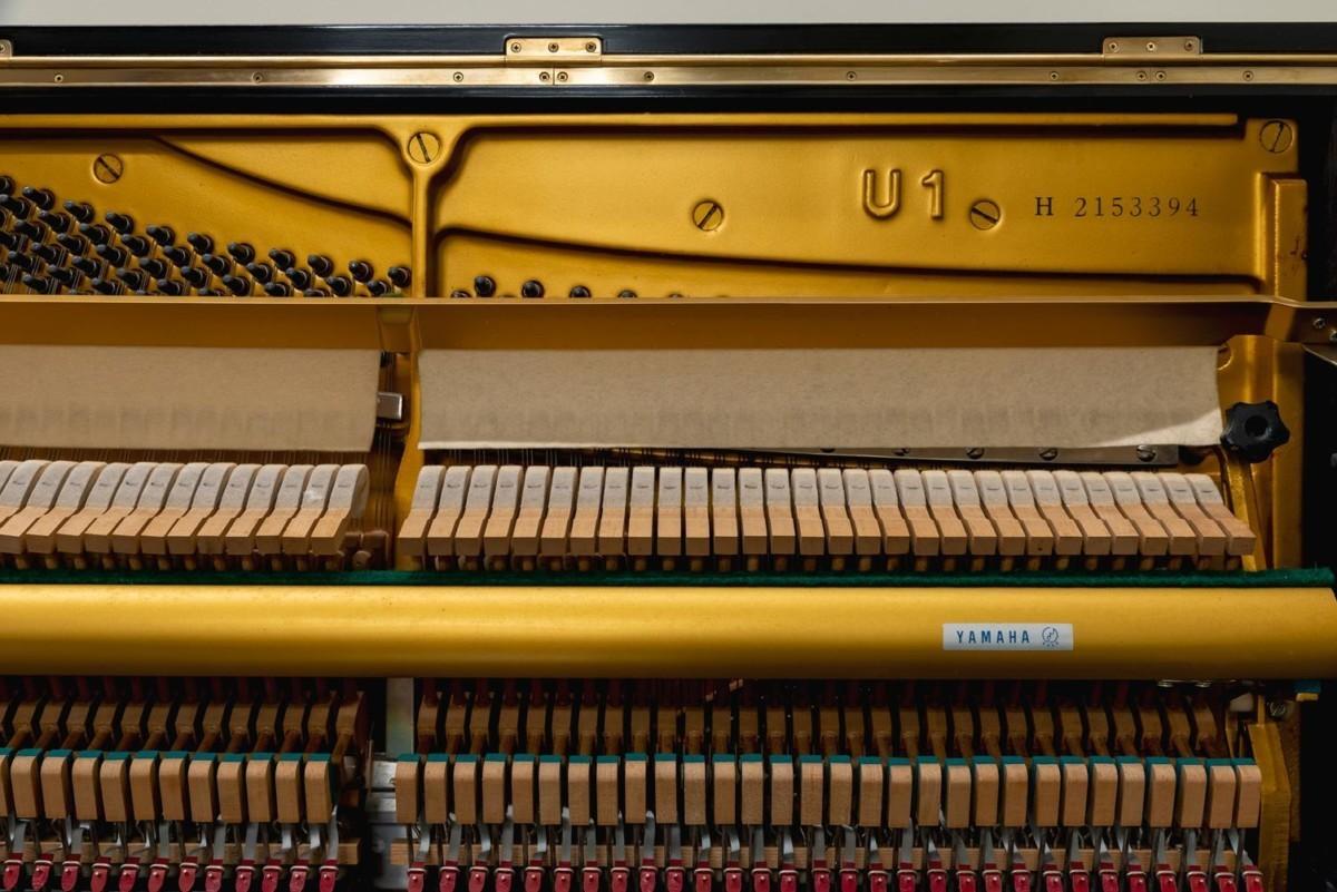 YAMAHA-U1-2153394 mecánica piano martillos cuerdas clavijas fieltro sordina