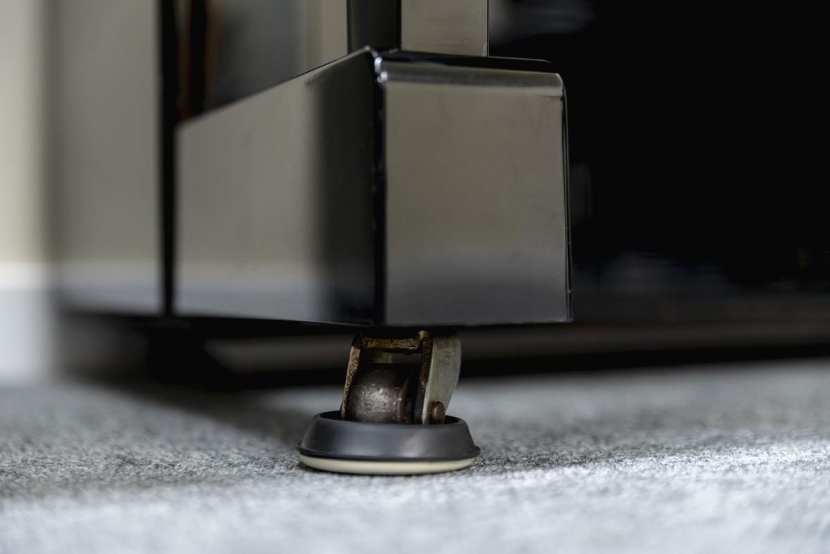 YAMAHA-U1-2153394 rueda pata piano