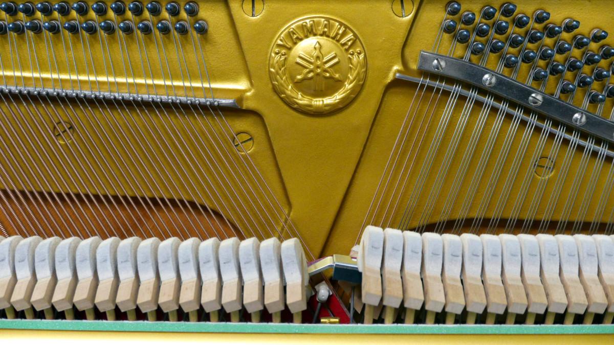 Yamaha U1H Y #2370797 mecanica interior sello martillos arpa