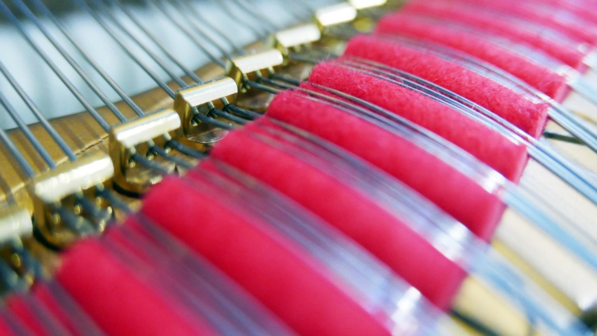 piano de cola Steinway & Sons O180 #466396 fieltros agrafes