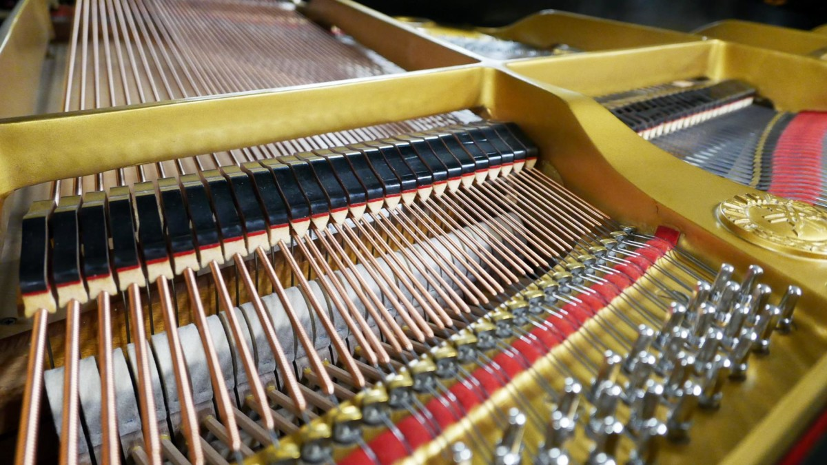 piano de cola Yamaha G2 #1568488 agrafes clavijas apagadores cuerdas martillos