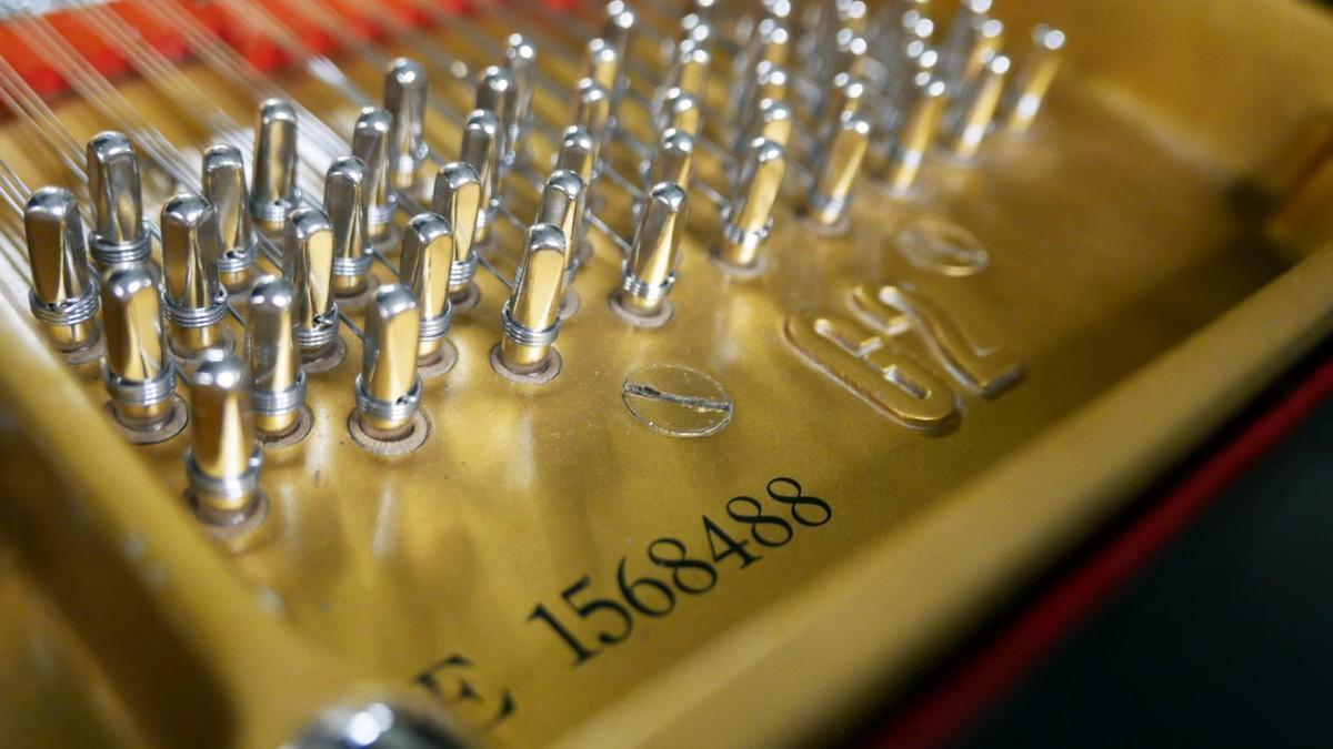 piano de cola Yamaha G2 #1568488 numero de serie modelo clavijero