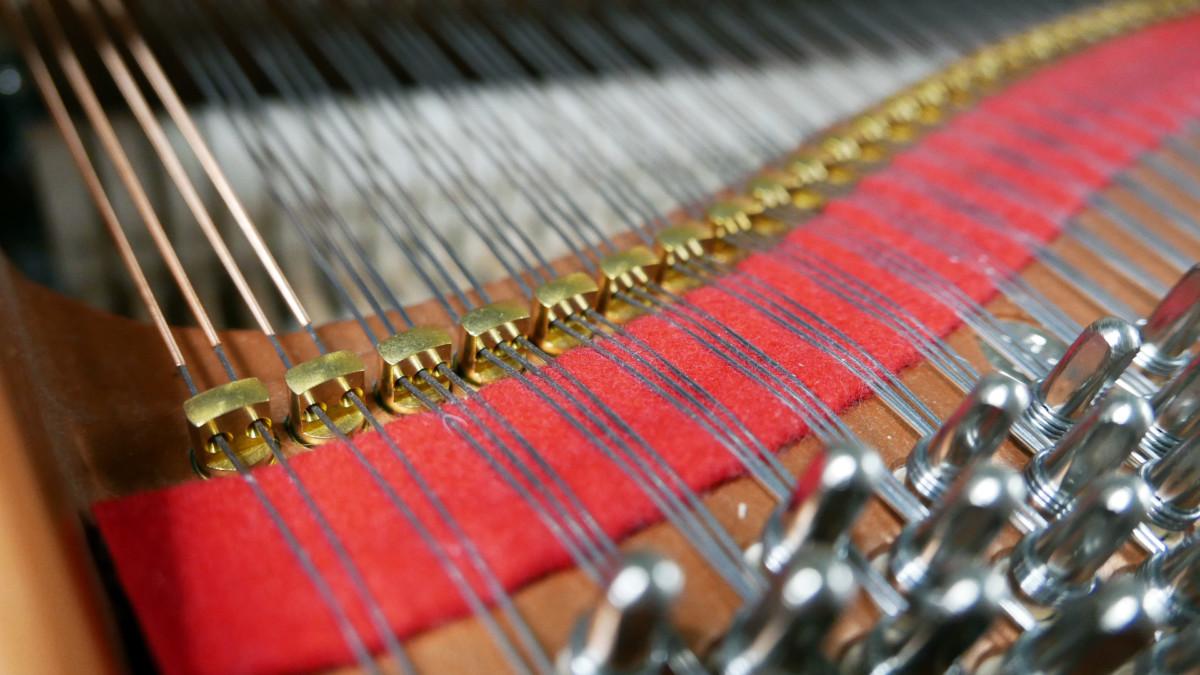 Yamaha CX2 #6473625 detalle agrafe cuerdas fieltros interior