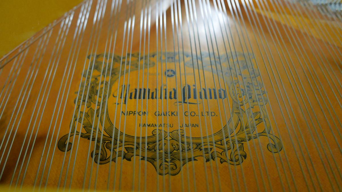 piano de cola Yamaha G2 #4310052 detalle tabla armonica marca cuerdas