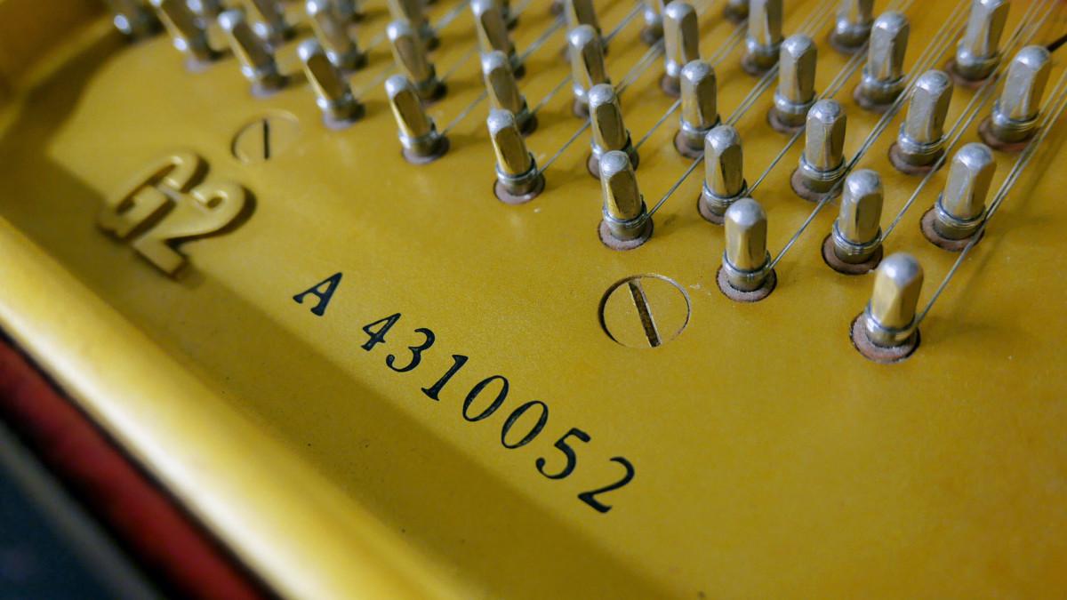 piano de cola Yamaha G2 #4310052 modelo numero de serie