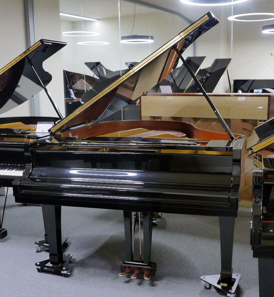 piano de cola Yamaha G2 #4310052 plano general tapa abierta teclado cerrado