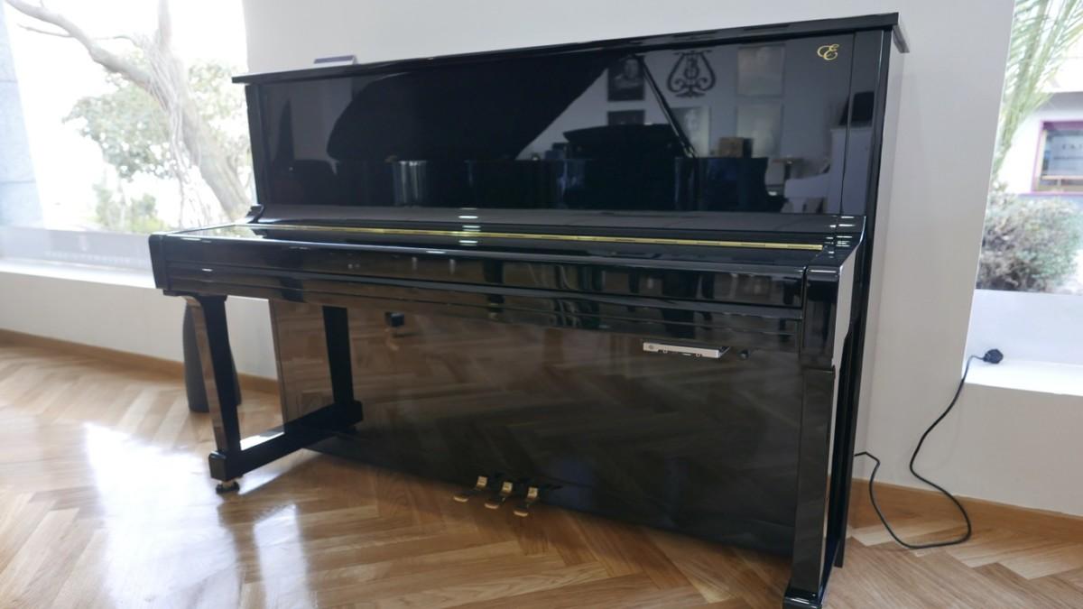 piano vertical Essex EUP123E silent #160221 vista general tapa cerrada