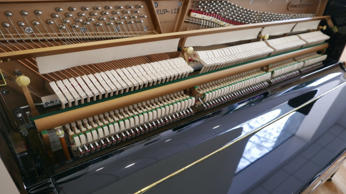 piano vertical Essex EUP123E silent #160221 vista general mecanismo