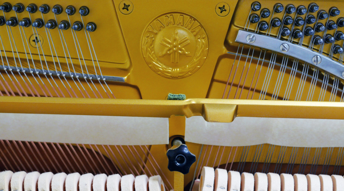 Yamaha U3 blanco pulido #3993690 interior mecanica sello marca sordina cuerdas