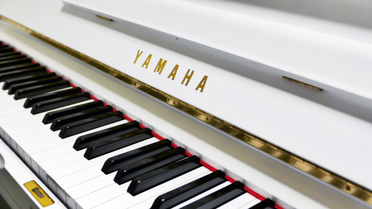 Yamaha U3 blanco pulido #3993690 teclado teclas marca
