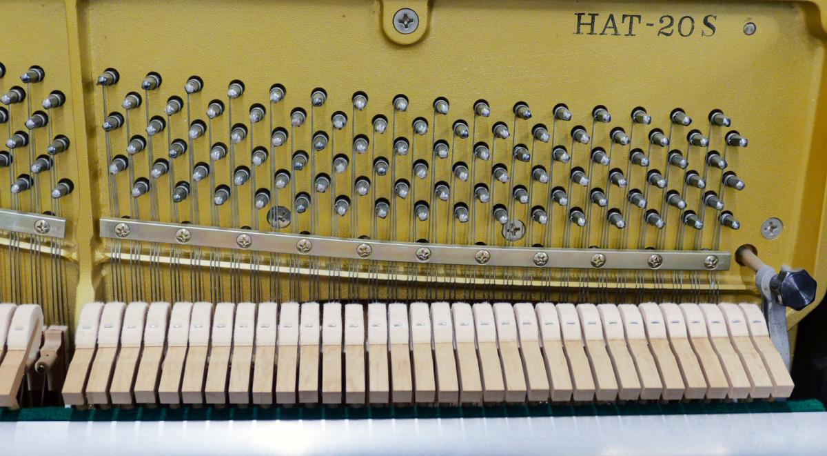 piano vertical Kawai H20 Silent #2185669 mecanica interior modelo clavijerto martillos macillos