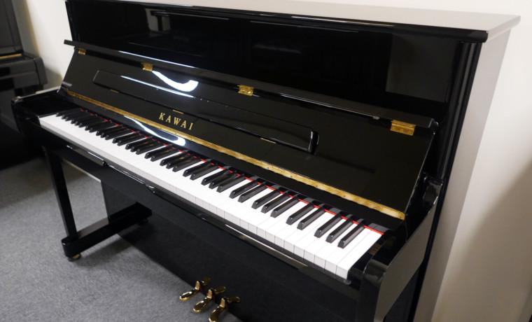piano vertical Kawai K2 #F040168 vista general tapa abierta