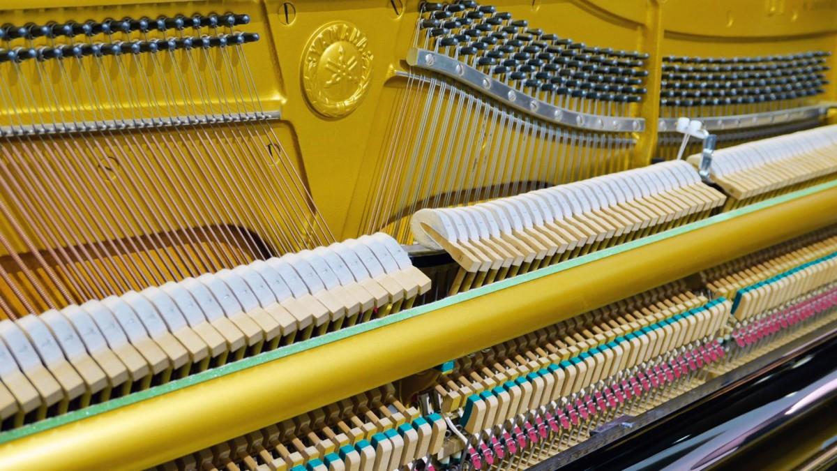 piano vertical Yamaha U1 silent #2400745 vista general mecanica interior