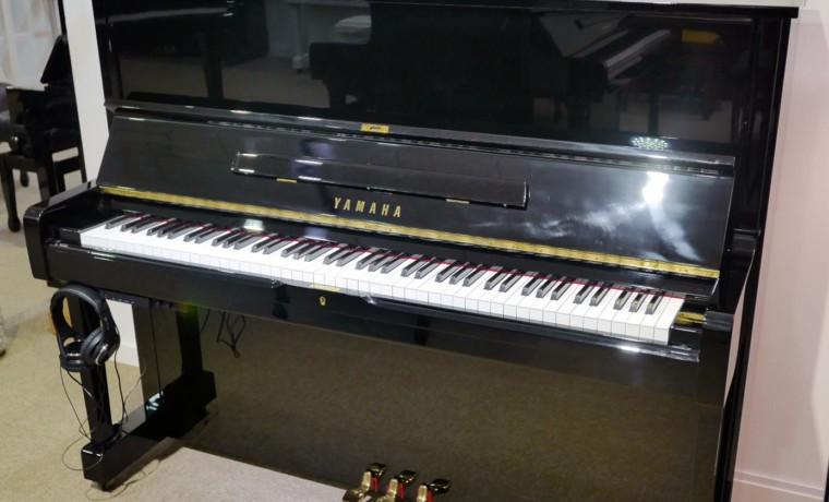 piano vertical Yamaha U1 silent #2400745 vista general tapa abierta