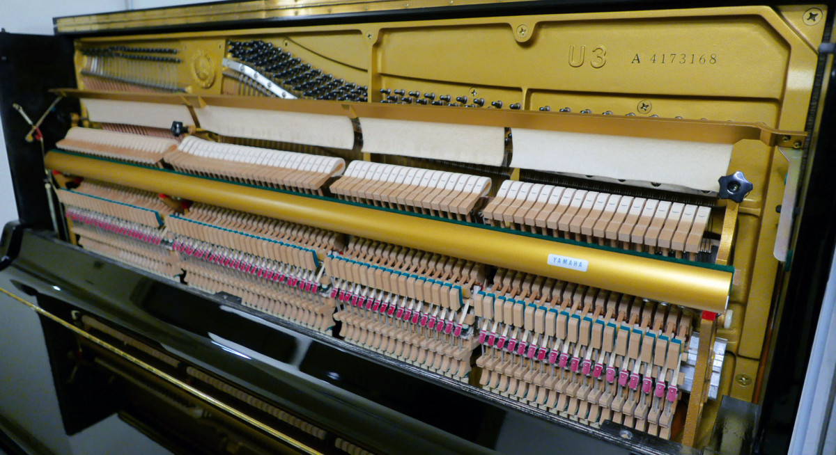 piano vertical Yamaha U3 #4173168 plano general lateral mecanica