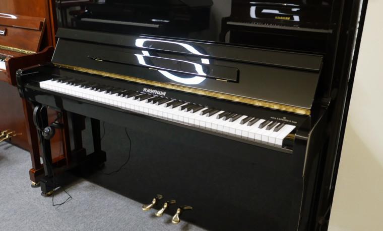 piano vertical W. Hoffmann V120 Silent #163083 vista general tapa abierta 2