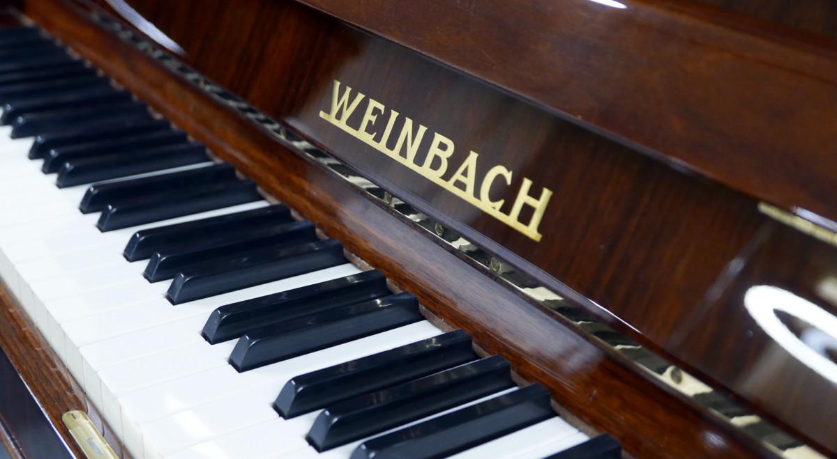 piano vertical Weinbach 115 #157122 teclado teclas marca