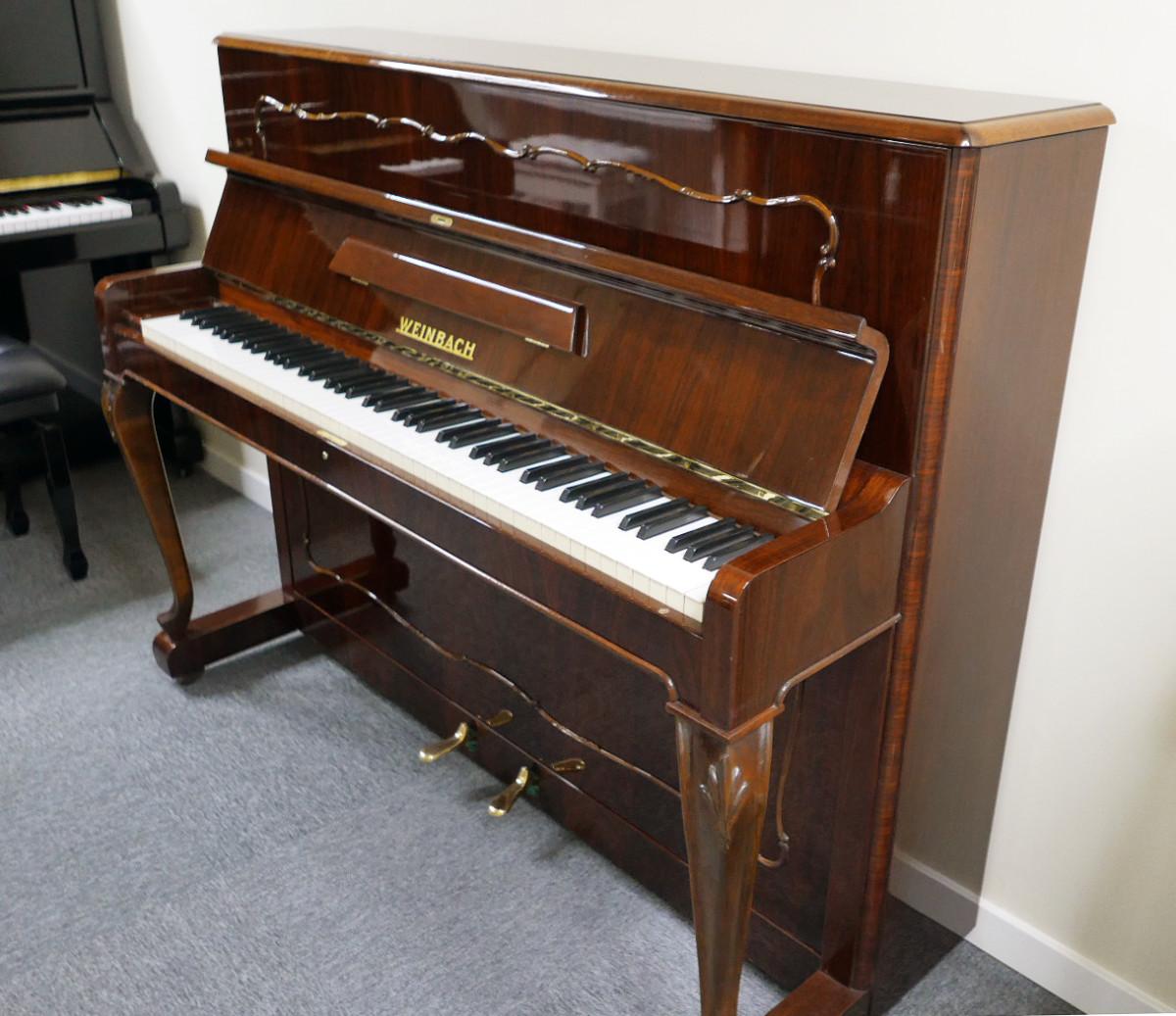 piano vertical Weinbach 115 #157122 vista general tapa abiert