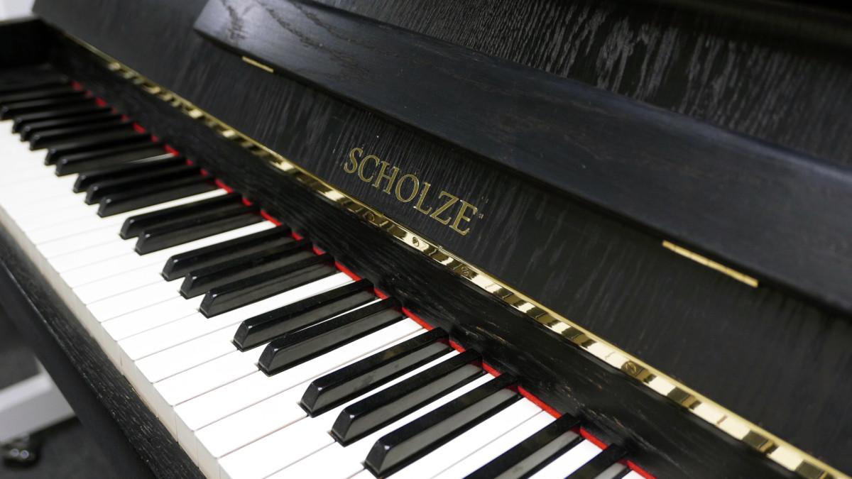 piano vertical scholze115 #54916 teclado teclas marca