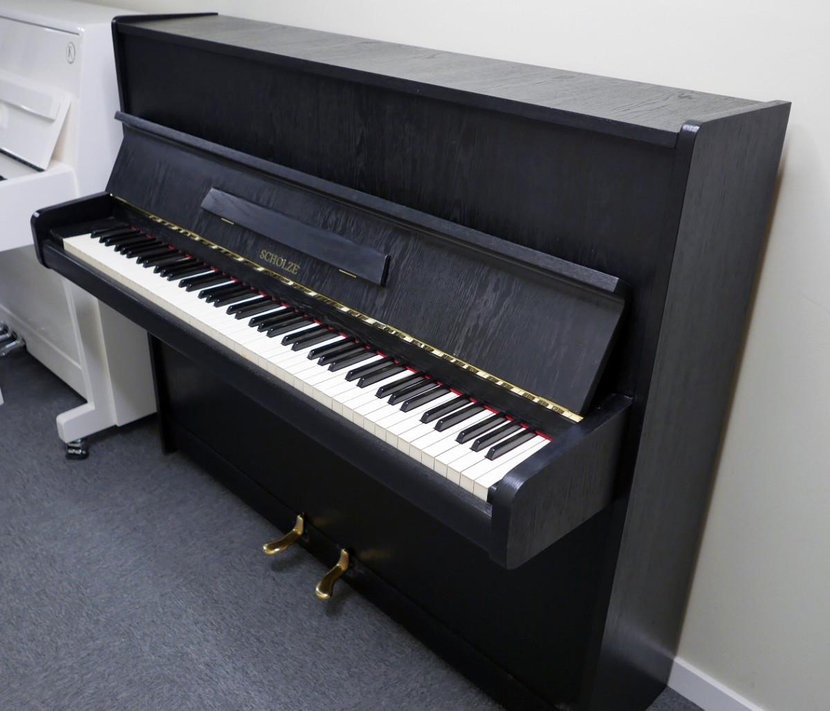 piano vertical scholze115 #54916 vista general tapa abierta