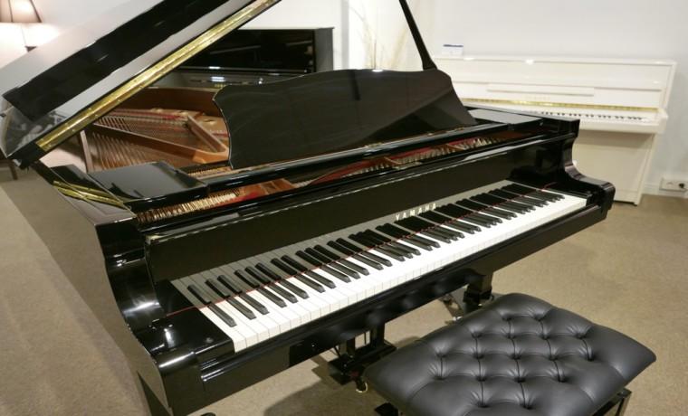 piano de cola Yamaha C6 #5605144 plano general abierto con banqueta