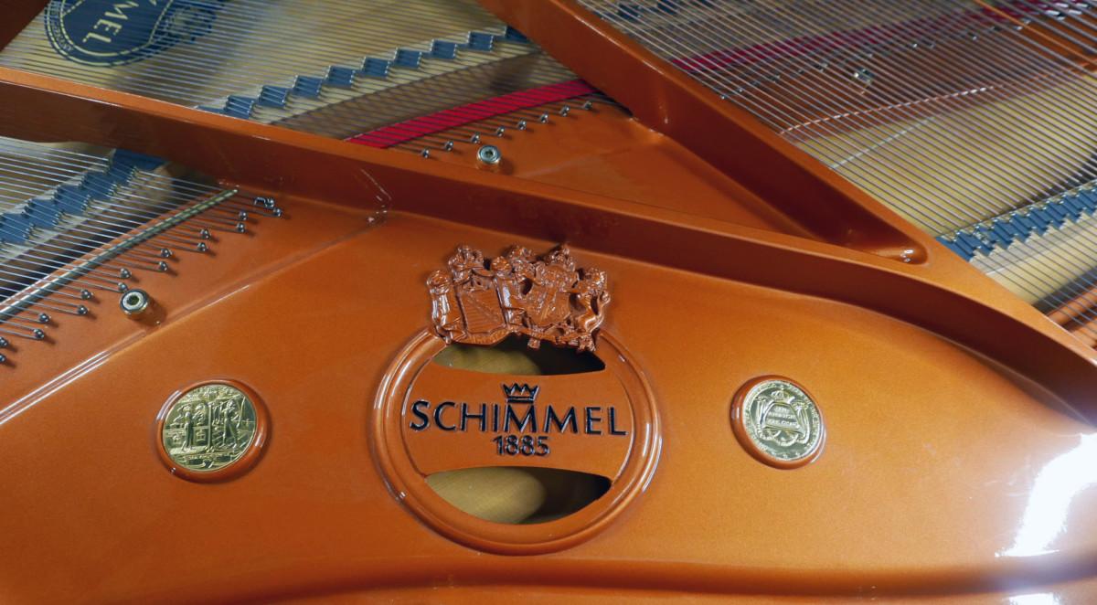 piano de cola Schimmel 174 #307484 interior mecanica