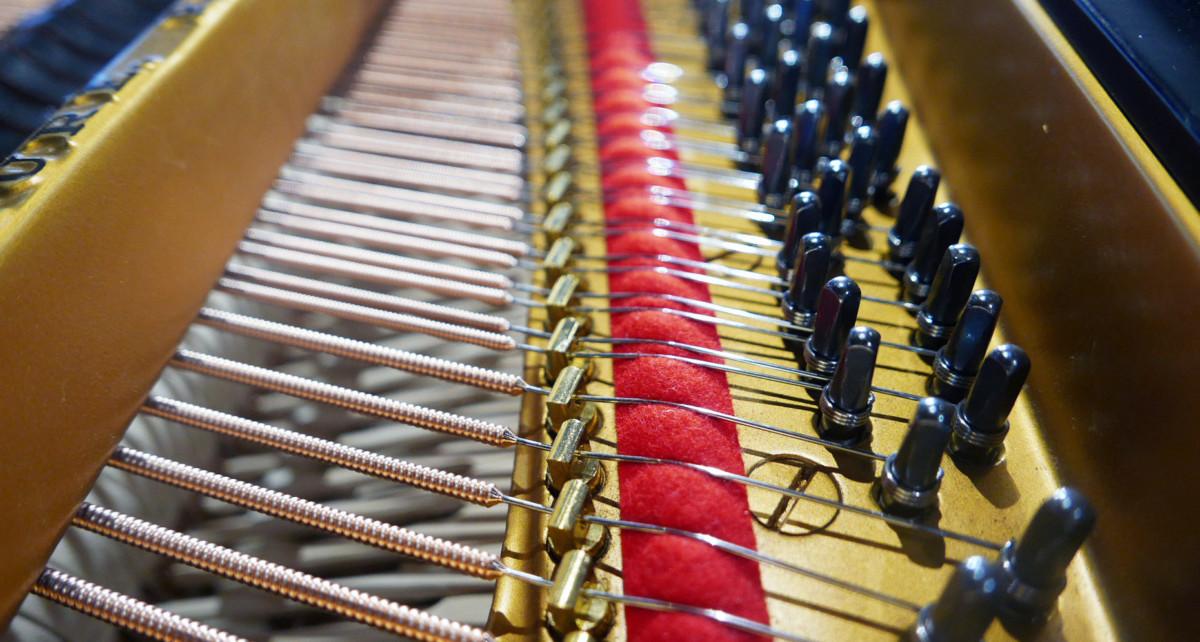 piano de cola Steinway & Sons O180 #238610 detalles cuerdas agrafes clavijero clavijas