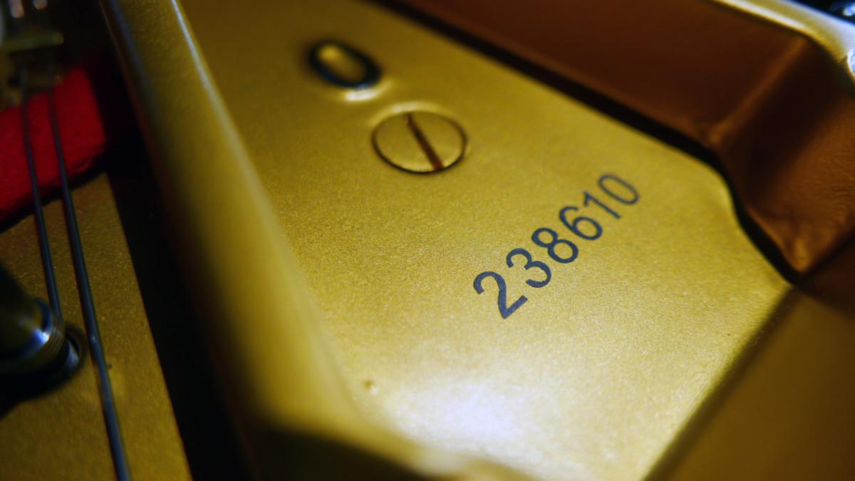 piano de cola Steinway & Sons O180 #238610 numero de serie y modelo