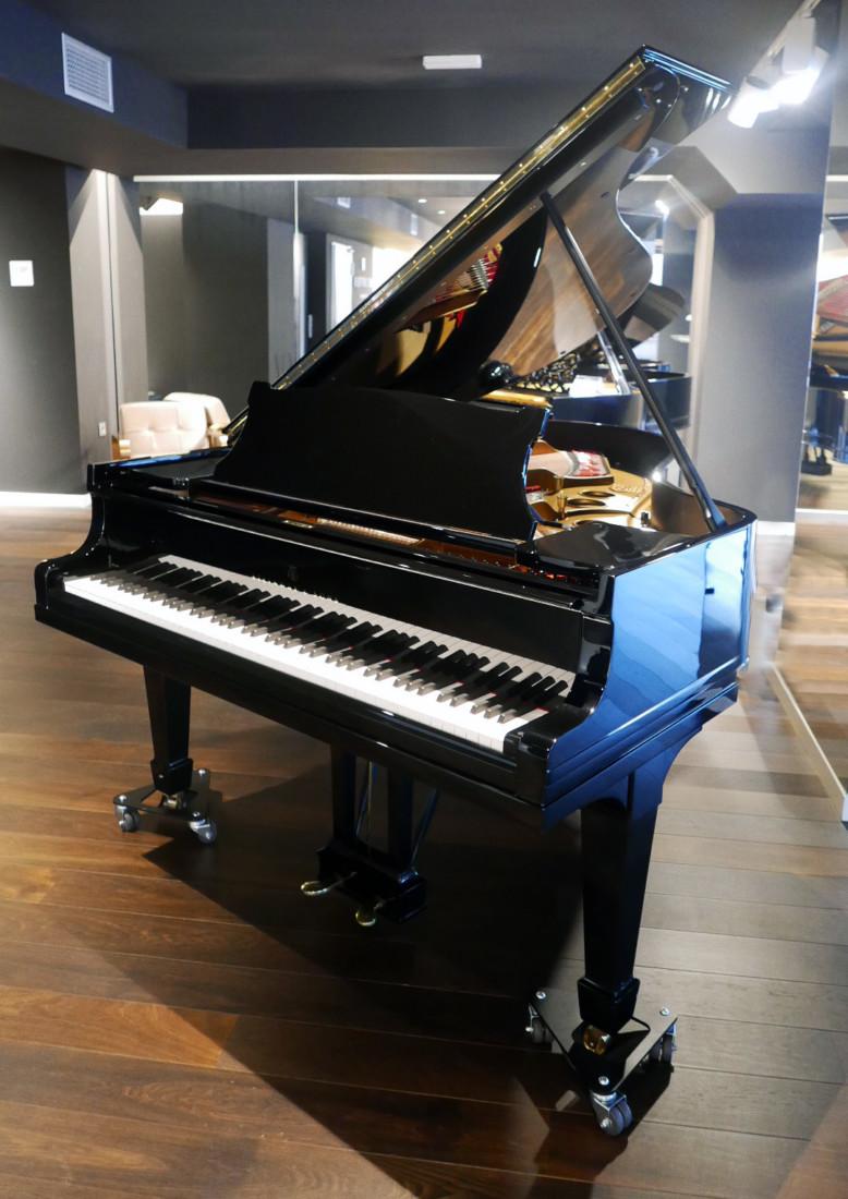 piano de cola Steinway & Sons O180 #238610 plano general tapa teclado abierta