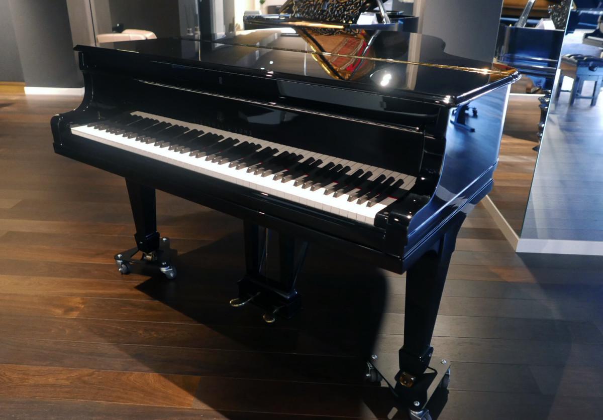 piano de cola Steinway & Sons O180 #238610 plano general tapa teclado abierta cerrado