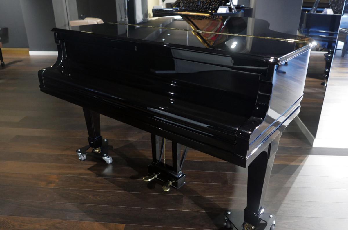 piano de cola Steinway & Sons O180 #238610 plano general tapa teclado cerrada