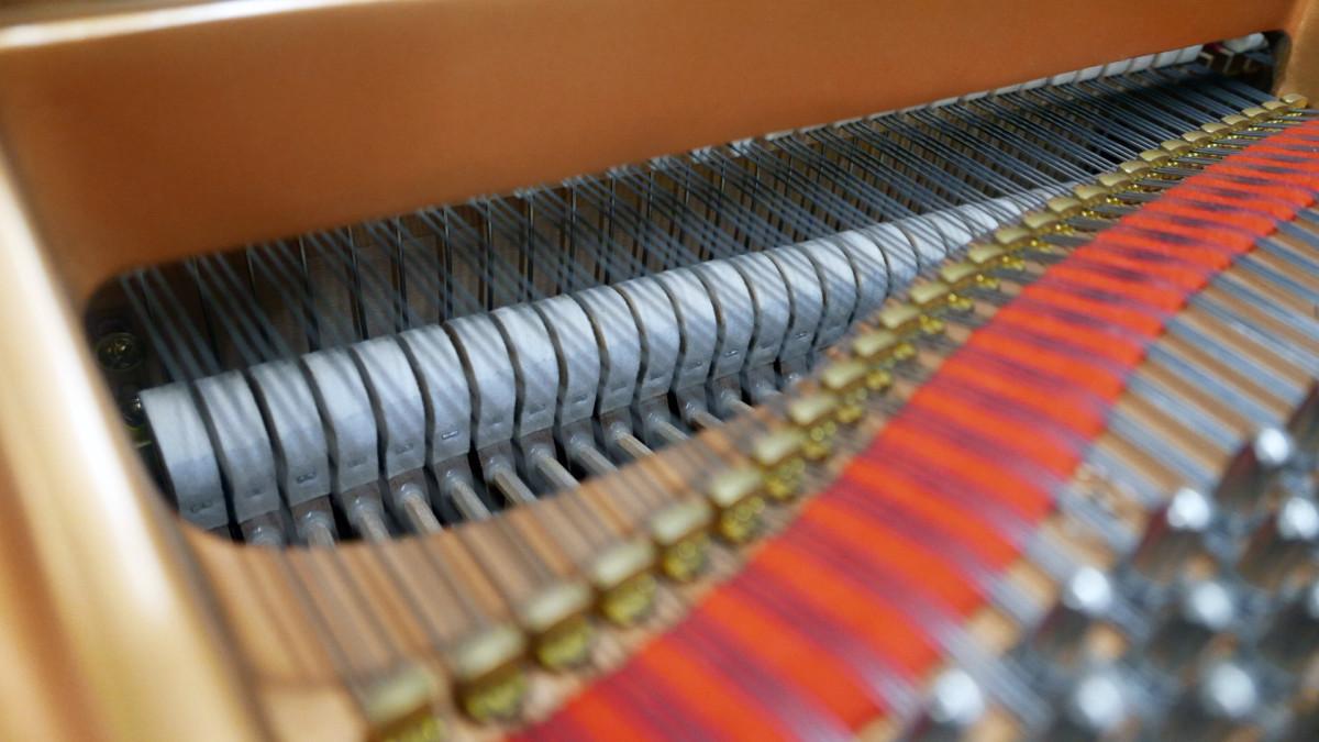 piano de cola Yamaha C3 #5972447 martillos macillos interior cuerdas