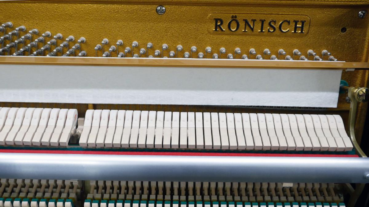 piano vertical Rönish #206292 arpa mecanica interior sello marca