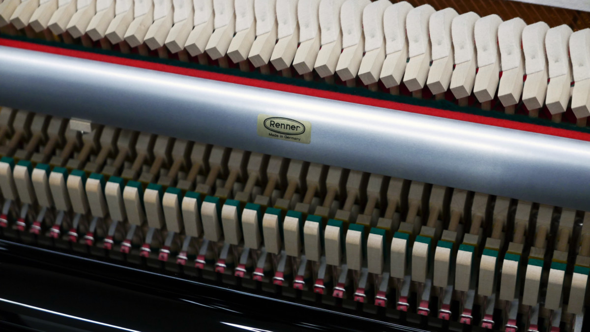 piano vertical Rönish #206292 detalle mecanica renner interior mecanica